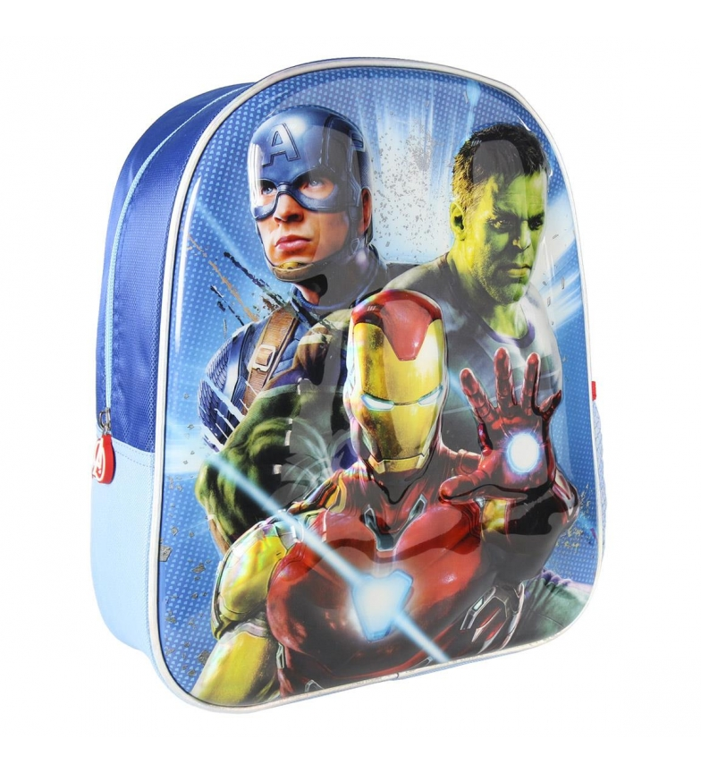 Comprar Marvel Mochila 3d Premium Metálica Azul 3d para crianças Vingadoras -26x31x10cm-