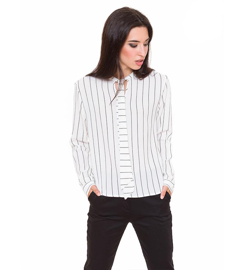 Comprar Azura Camicetta bianca con strisce sottili