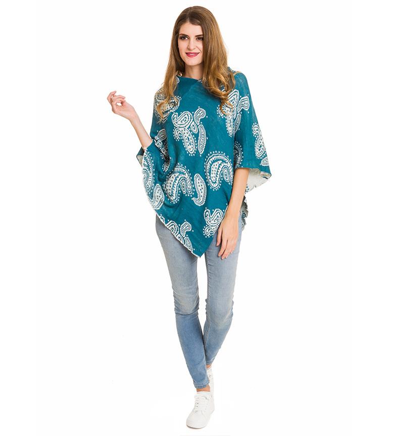Comprar Azura Cachemire turquoise poncho