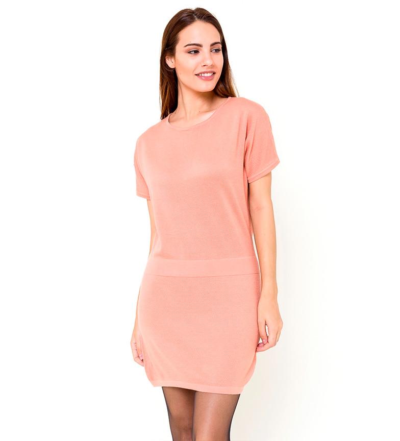 premium selection 45a85 ec061 Dettagli su Azura - Vestito rosa Esma Donna Casual Poliestere Manica corta