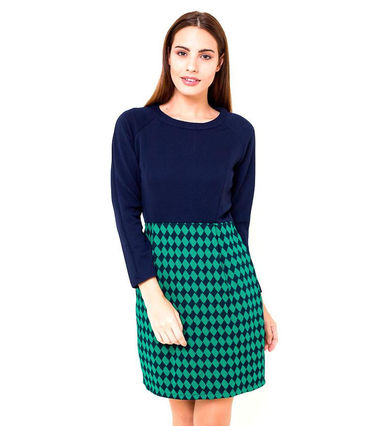Comprar Azura Vestito di tweed blu, verde