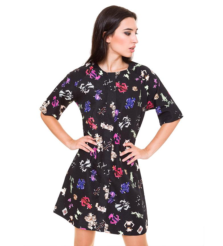 Comprar Azura Vestito nero con stampa