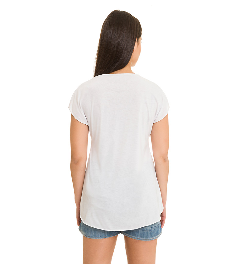 Azura Camiseta Tortuga blanco