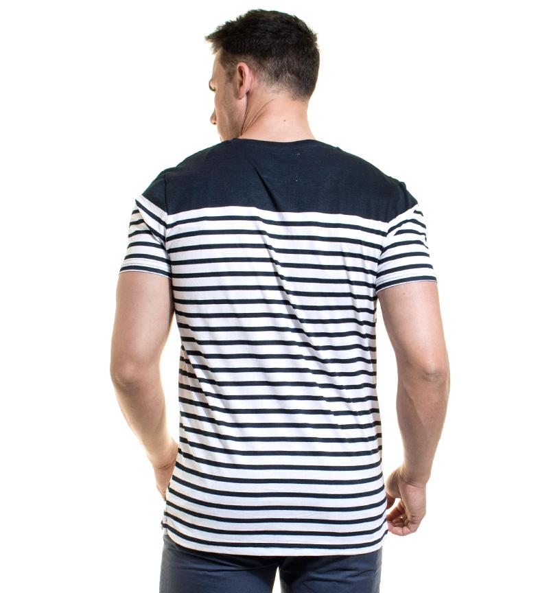 Baklys Camiseta Wayne Col Marino, Blanco