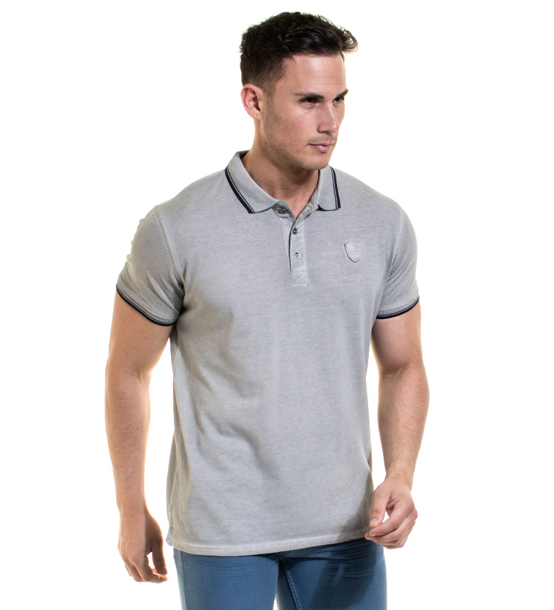 Backlight Polo Timeo gris