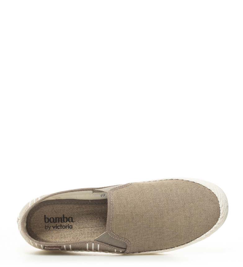 Bamba by Victoria Slip On lona taupe