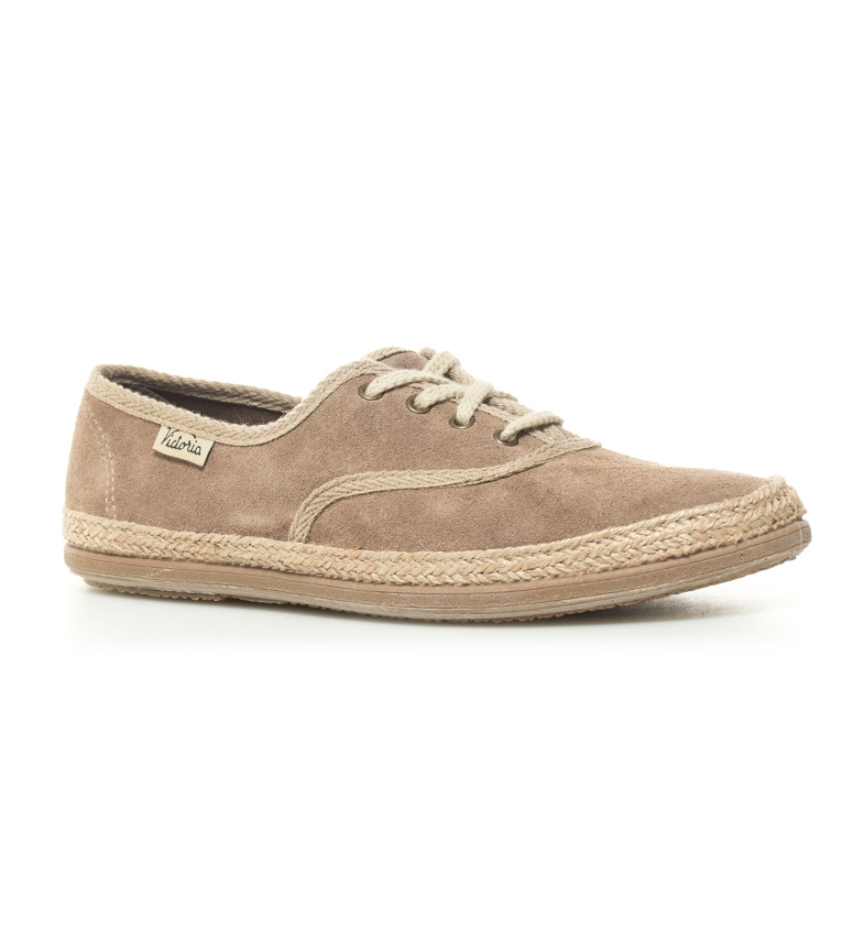 by Victoria Bamba Zapatillas taupe de by piel Bamba ttdrq