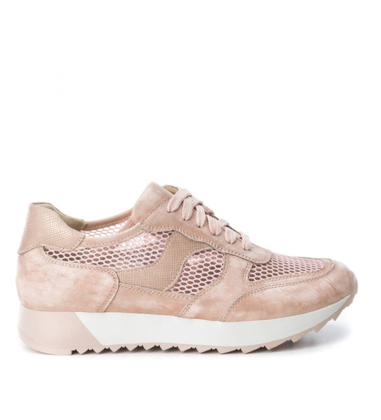 Xti by Zapatillas metalizadas BASS3D nude UqSaw