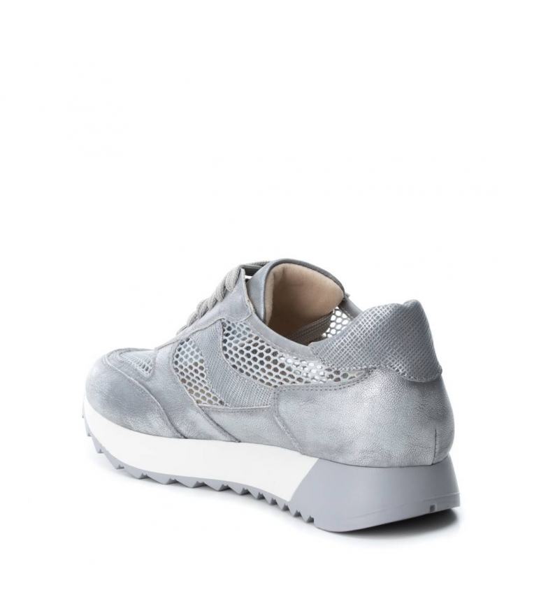 Xti by BASS3D Zapatillas plata metalizadas 65YBdqw8