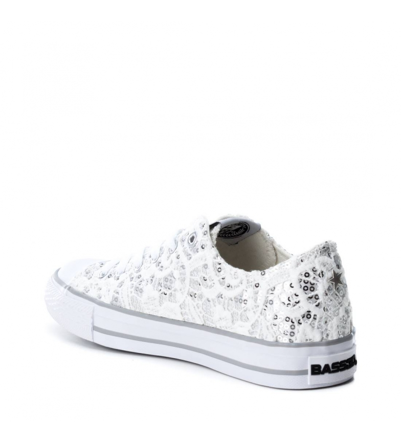 by BASS3D Xti blanco loneta Zapatillas wawqO1SXH