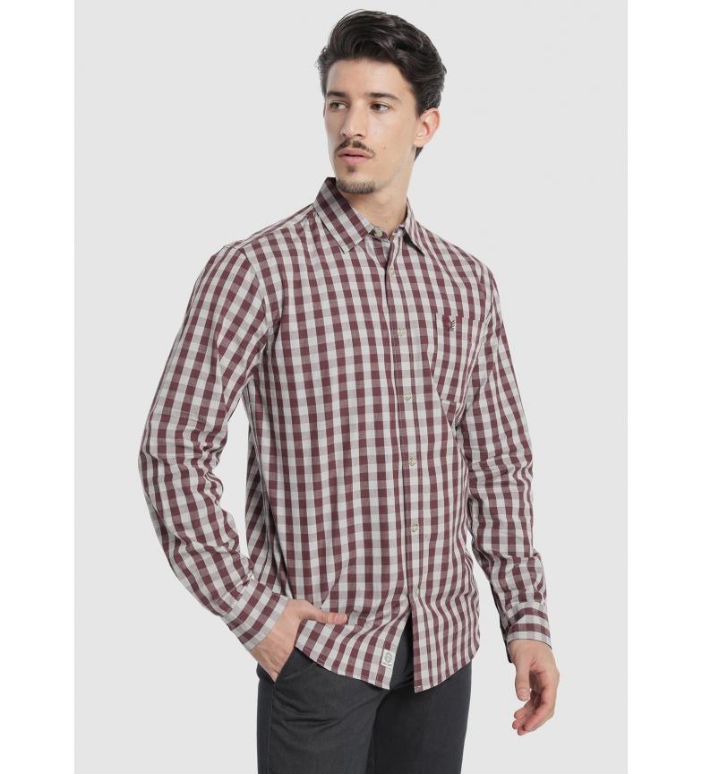 Comprar Bendorff Maroon check shirt
