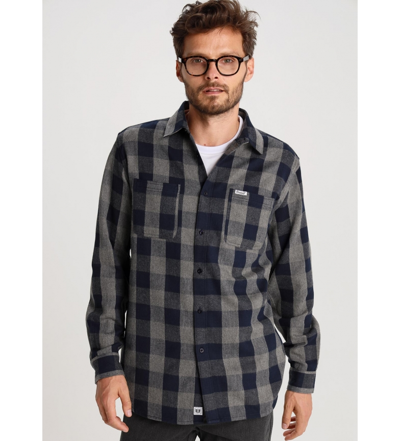 Bendorff Camisa Cuadros Franela azul, gris