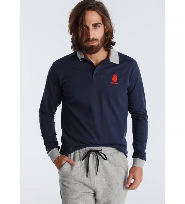 Bendorff Polo blu a maniche lunghe