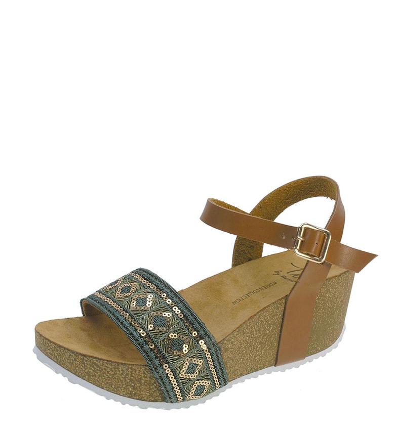 Comprar Beppi Brown wedge sandals - Wedge height: 6,5cm