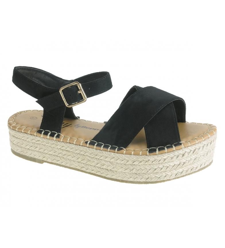 Comprar Beppi Black suede sandals - Platform height: 3.5cm