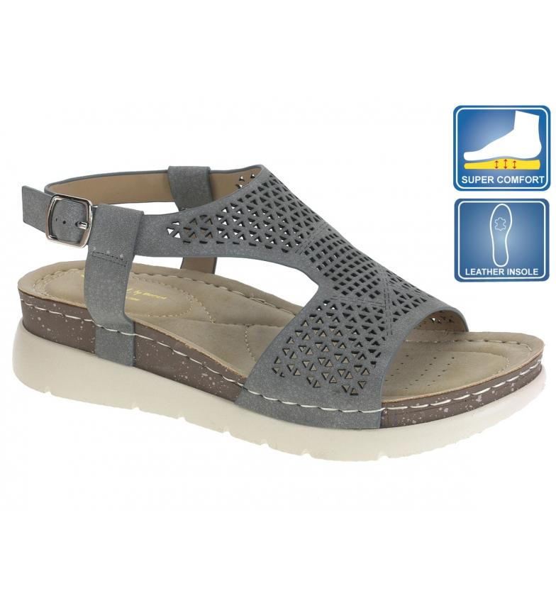 Comprar Beppi Grey Pitty Sandals - Wedge height: 2,5cm