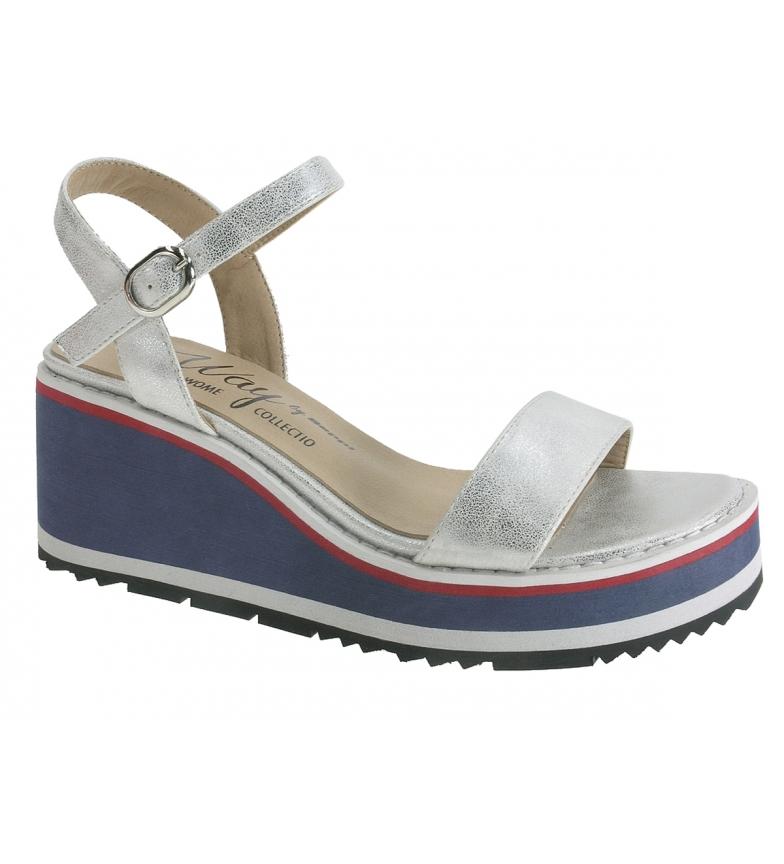 Comprar Beppi Ashy silver sandals - Wedge height: 7cm