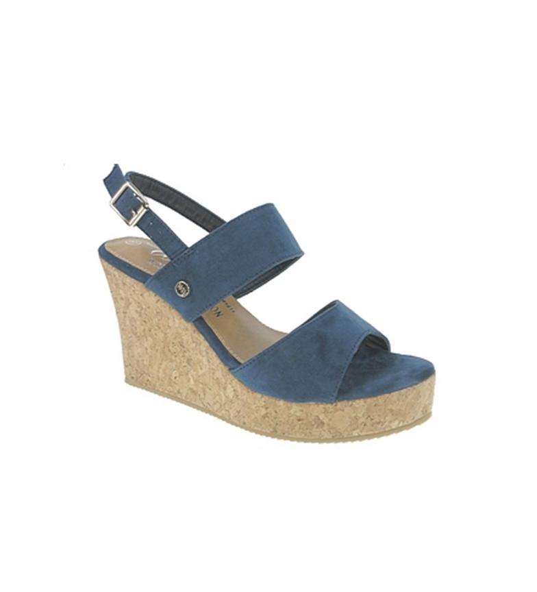 Sandalia casual de Beppi cuña Azul qptxdw6C