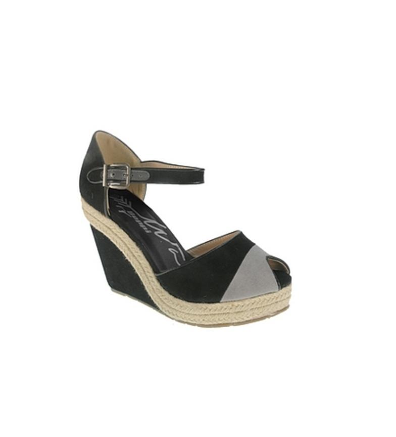 Comprar Beppi Black casual wedge sandal