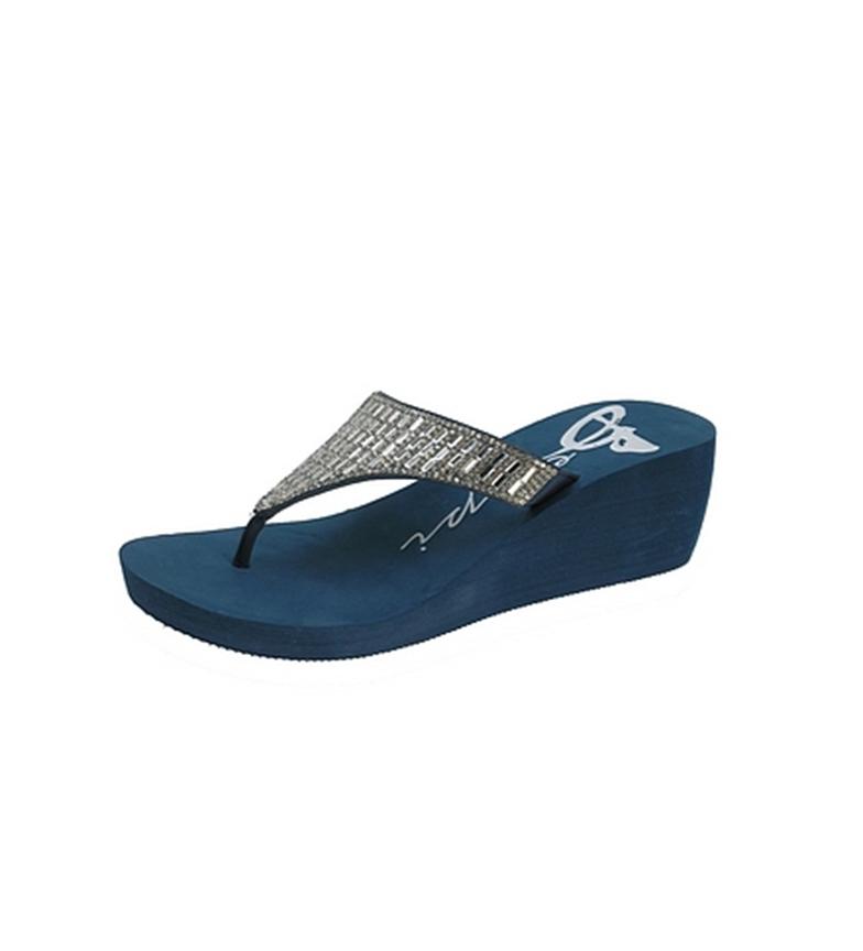 Beppi Zapatilla Zapatilla cuña Beppi marino de Azul cqHq8r1wzx