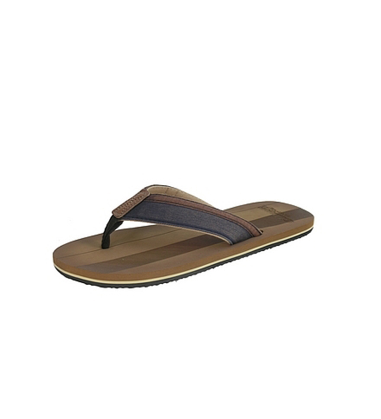 Beppi Zapatilla Thong marrón
