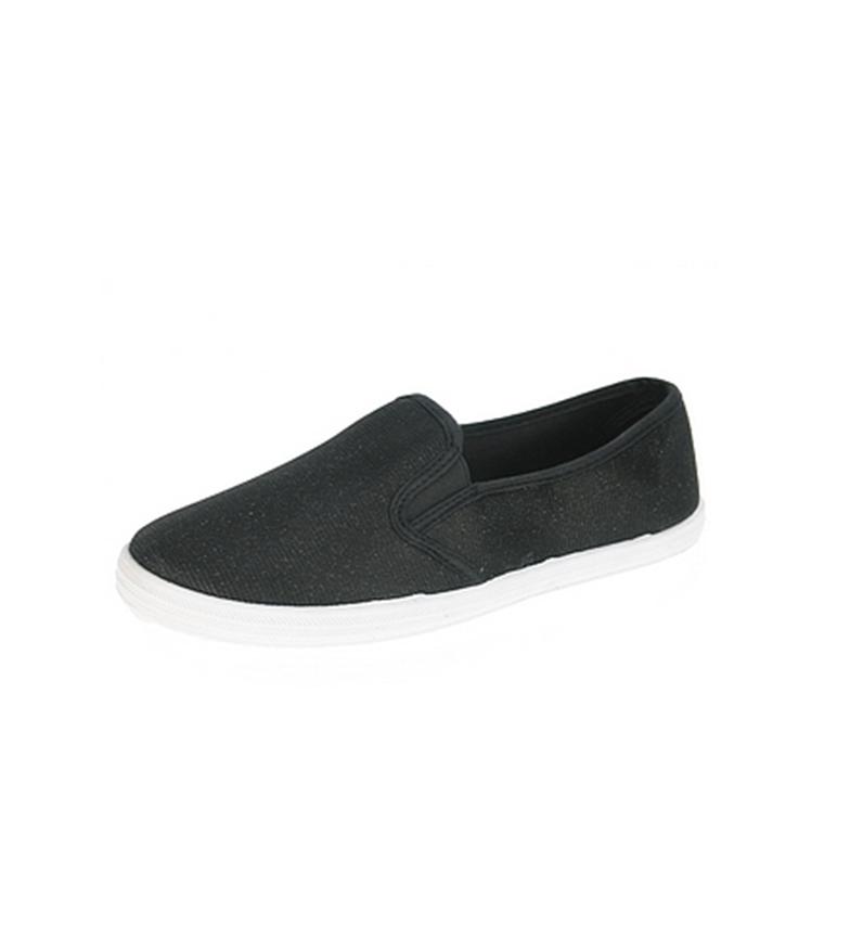 Negro de Zapato Beppi de de Beppi Zapato Beppi Zapato Negro lona lona wwU16PqX