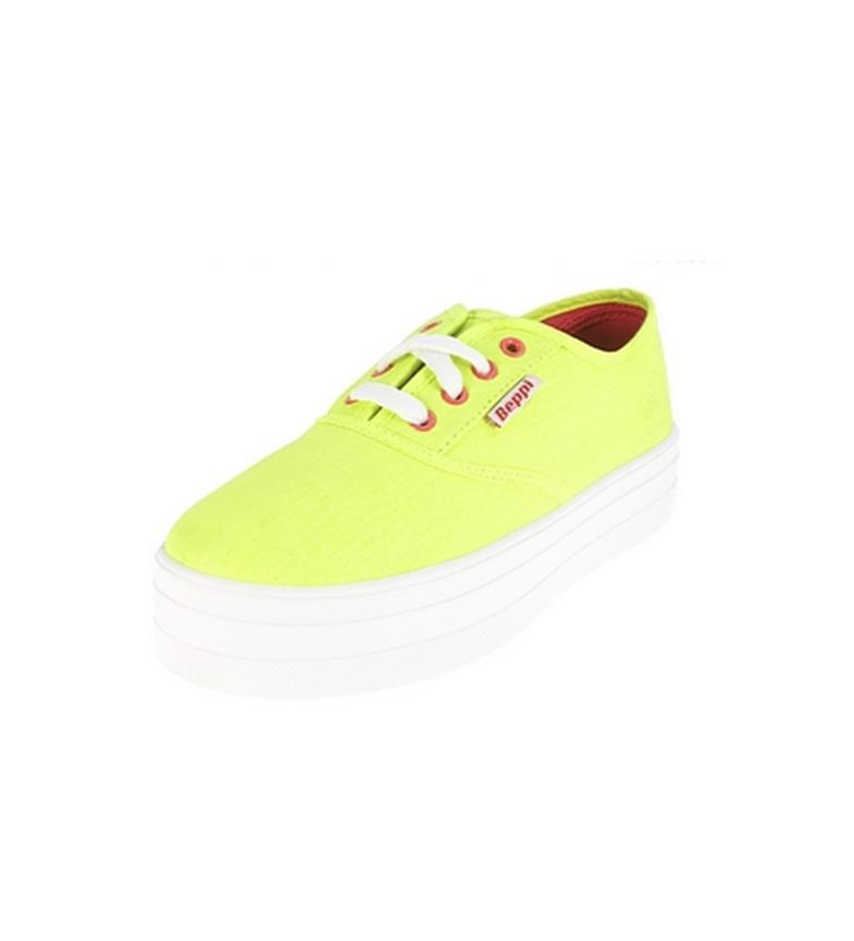 Beppi Zapato de lona Verde claro