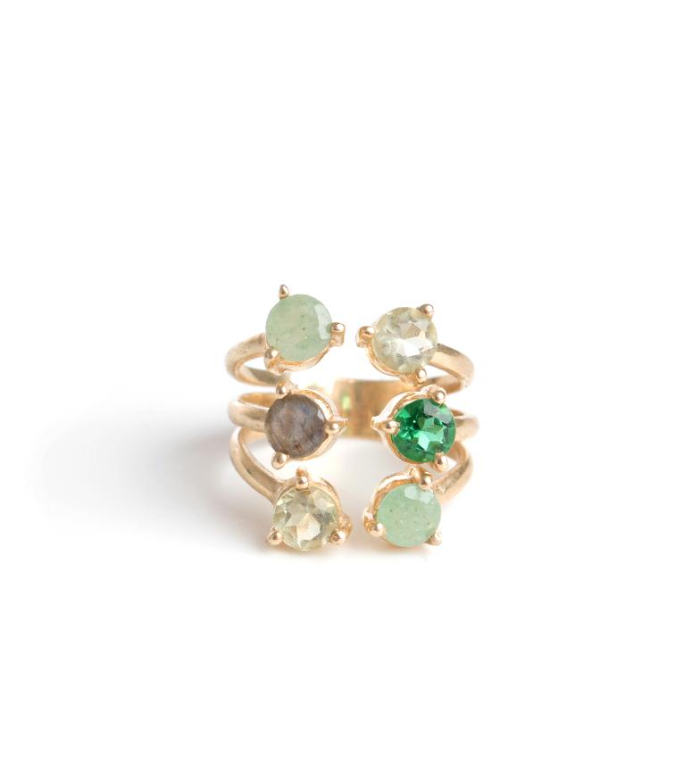 Comprar Bilyfer Ring D0041 gold, green