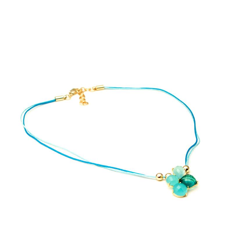 Comprar Bilyfer Collana di fiori D0143 blu -40cm-