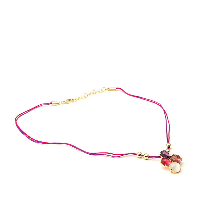Comprar Bilyfer Collar flor D0143 rosa -40cm-