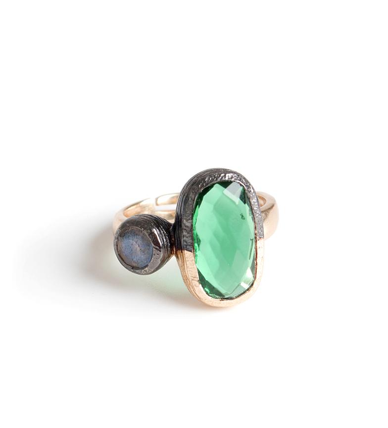 Comprar Bilyfer Ring D0154 gold, green