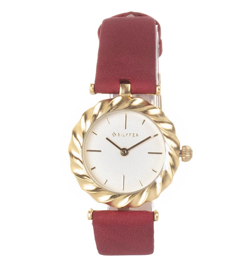 Comprar Bilyfer Analogue leather watch Aldaba rojo