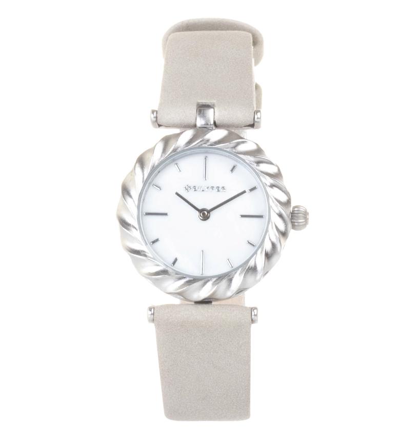 Comprar Bilyfer Reloj analógico de piel Aldaba plata