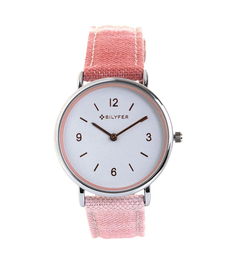 Comprar Bilyfer Reloj Algodón y Piel Llengua Mallorquina rosa