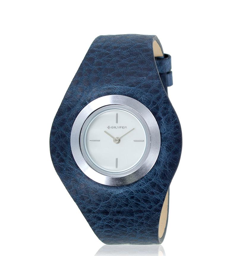 Comprar Bilyfer Reloj analógico 1F606 piel azul, plateado