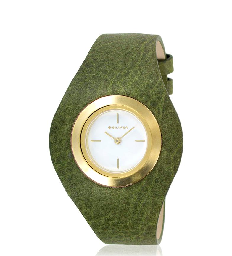 Comprar Bilyfer Reloj analógico 1F606 piel verde, dorado