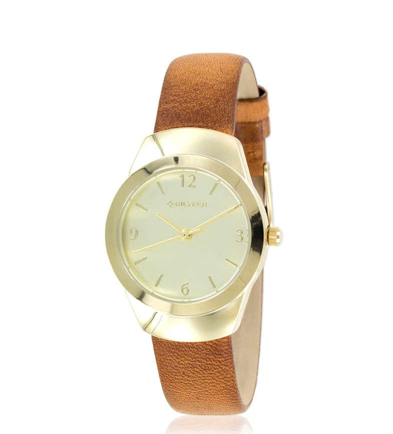 Comprar Bilyfer Horloge analogique 1F614 cuir brun, or