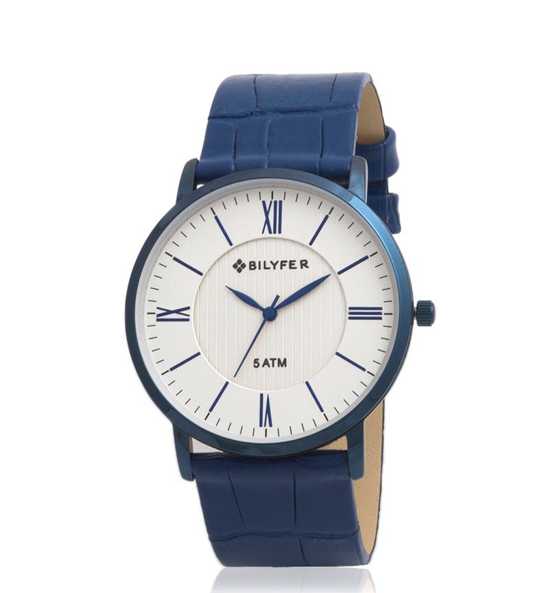 Comprar Bilyfer Reloj analógico 2W434 piel azul