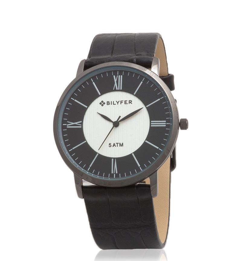 Comprar Bilyfer Relógio analógico 2W434 couro preto
