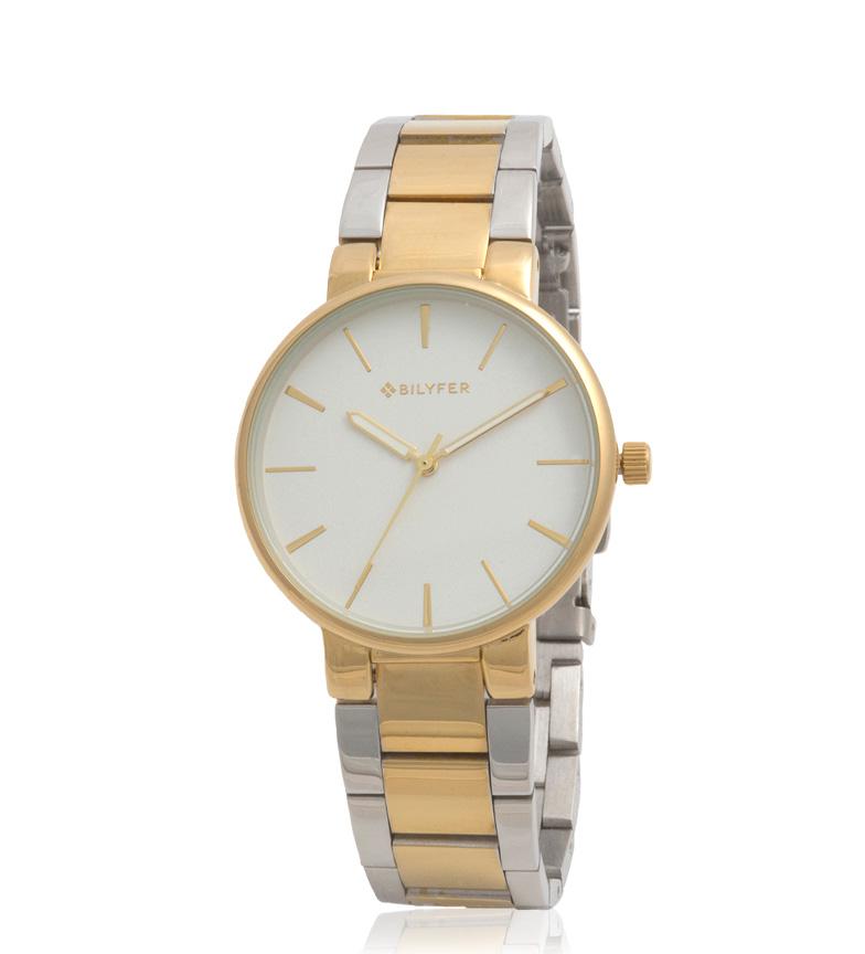 Comprar Bilyfer 3P538 relógio analógico de ouro