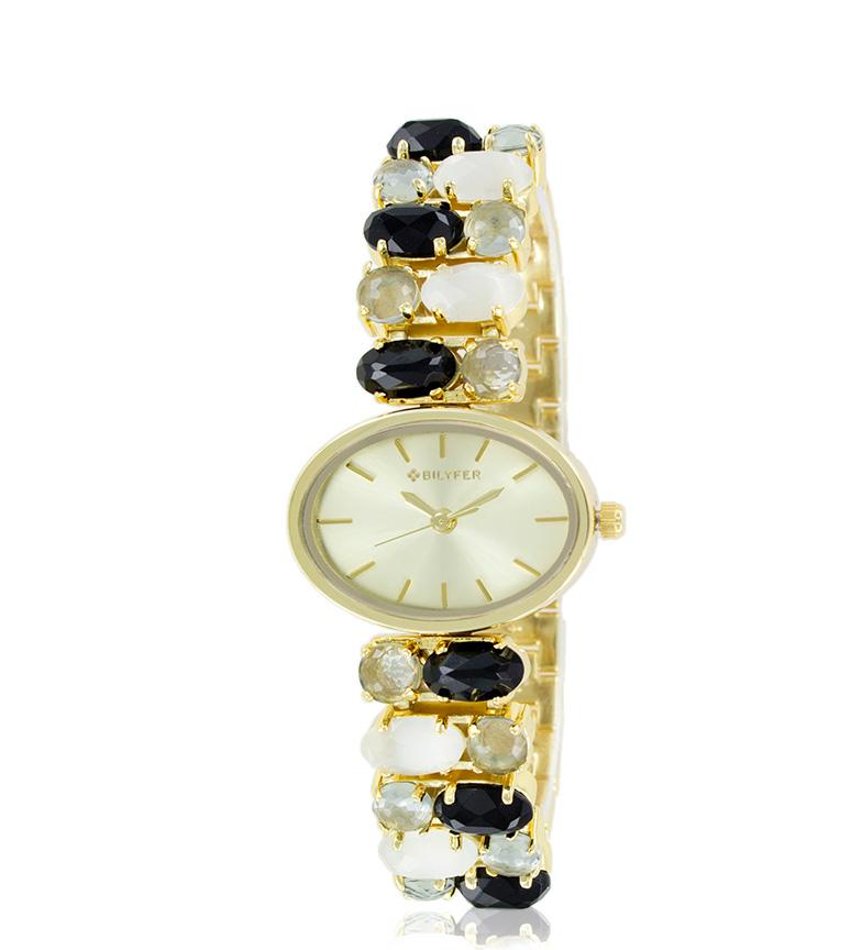 Comprar Bilyfer 3P549 orologio analogico dorato, nero