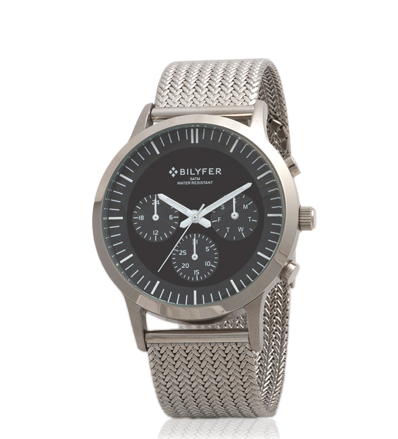 Comprar Bilyfer Analog watch 4H293 with silver chronograph, black