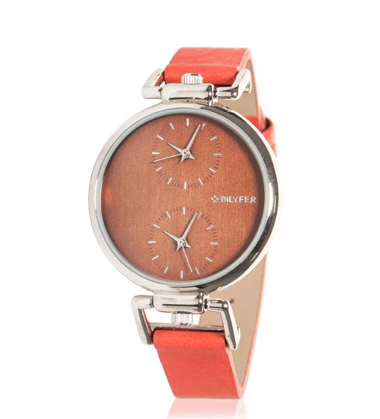 Comprar Bilyfer Reloj analógico de piel 1F562 coral