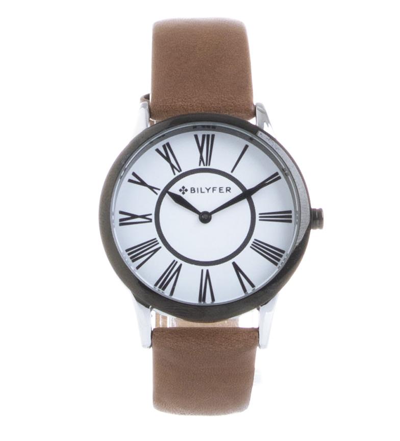 Comprar Bilyfer Relógio analógico em couro 1F623 castanho, preto
