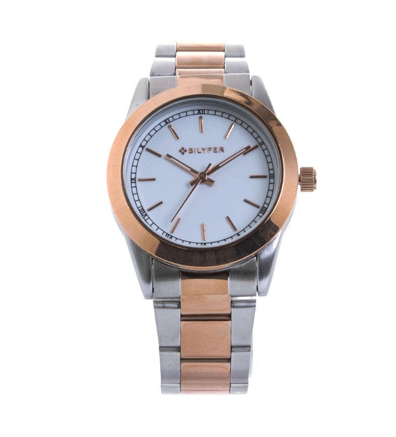 Comprar Bilyfer Reloj Correa Acero Combinados y Indices plateado, bronce