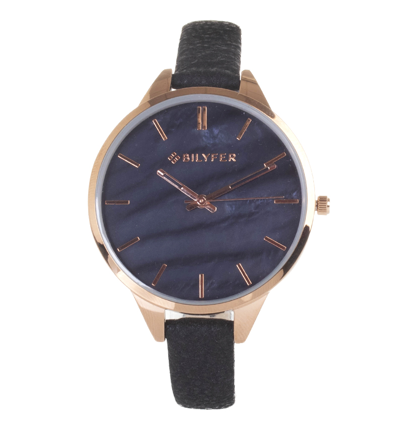 Comprar Bilyfer Reloj analógico de piel 1F641 negro
