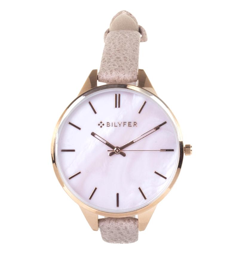 Comprar Bilyfer Reloj analógico de piel 1F641 rosa