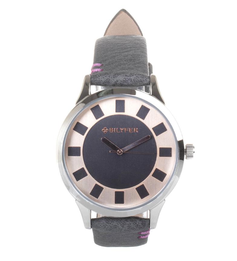 Comprar Bilyfer Reloj analógico de piel 1F631 gris