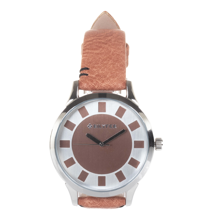 Comprar Bilyfer Reloj analógico de piel 1F631 rosa