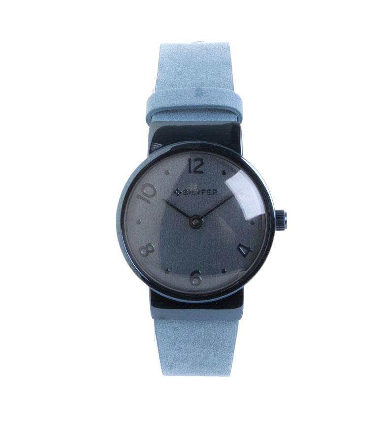 Comprar Bilyfer Mini Watch Integrated Leather Strap blue